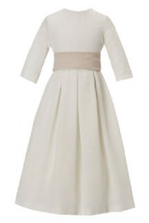 Silk georgette pleated flower girl dress